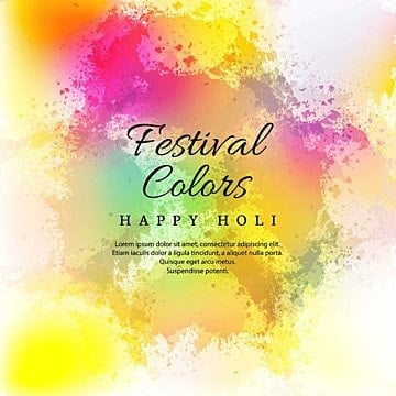 Watercolor imitation multicolored background with Happy Holi festival design, Abstract, Background, Watercolor PNG and Vector