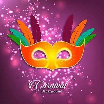Carnaval cartão com máscara e glitters, O Carnaval, Festa, Vector BackgroundPNG e Vector