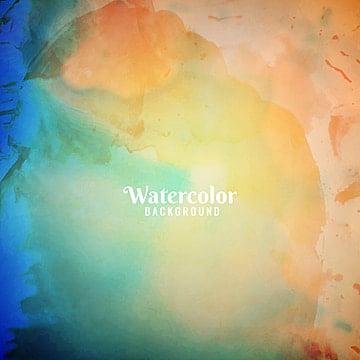 Abstrato colorido aquarela design background, Abstratos, Fundo, FundoPNG e Vector