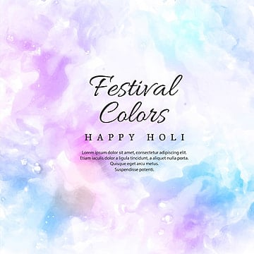 illustration of colorful Happy Holi Background for Festival of Colors celebration, Abstract, Background, Watercolor PNG and PSD
