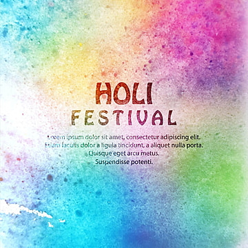 illustration of colorful Happy Holi Background for Festival of Colors celebration, Abstract, Background, Watercolor PNG and Vector