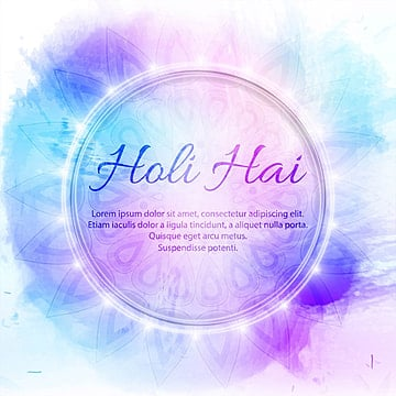 illustration of abstract colorful Happy Holi background, Watercolor, Paint, Oil Stains PNG and Vector