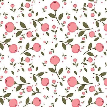 pink flowers pattern on white background, Background, Pattern, Flower PNG and Vector