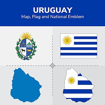 uruguay map  flag and national emblem, Continents, Countries, Map PNG and Vector