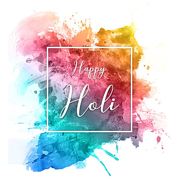 Happy Holi 2018 - Splatter Watercolor, Happy Holi 2018, Splatter Watercolor, Water Color Splatter PNG and PSD