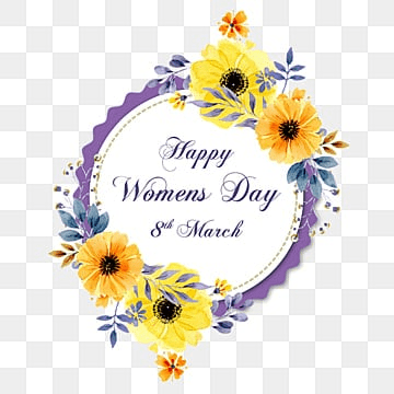 Womens day with Floral Vector, Happy Women Day, 8 March, Women Day PNG and PSD