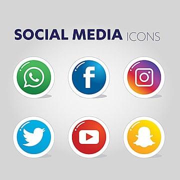 Social Media Icons, Social Media Icons, Social Media, Social Media Logo PNG and Vector illustration image