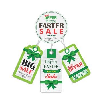 Easter Day Sale Stickers, Easter Day, Sale Stickers, Vector Sale Stickers PNG and Vector