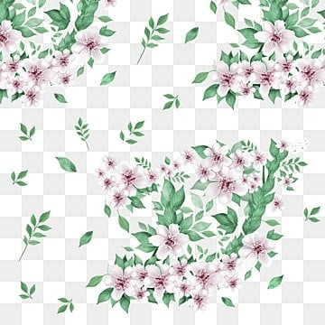 beautiful floral flowers with green leaf vector png, Floral, Flowers, Floral Flowers PNG and PSD
