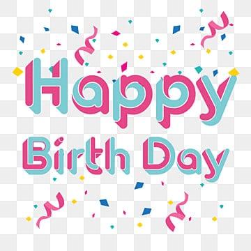 Feliz aniversário,, Feliz, Aniversário, NascimentoPNG e Vector