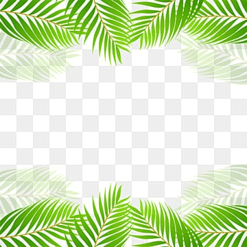 Green Tropical Leaf Border Vector , Green, Tropical, Leaf PNG and PSD