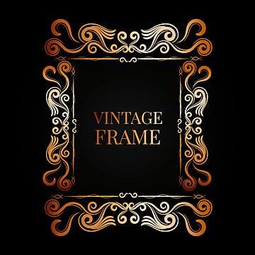 82ce5119b1a Ornamental vintage golden frame