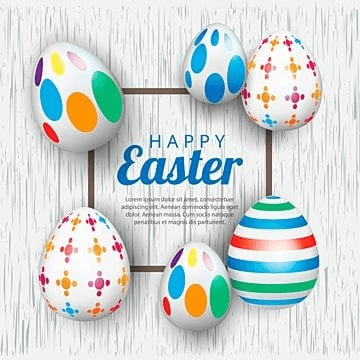 easter  background template with beautiful eggs  vector illustration, Easter, Eggs, Egg PNG and Vector