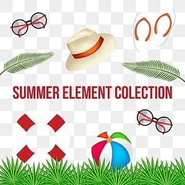 Summer Element Collection, Summer Element Collection,Summer, Element, Green PNG and PSD