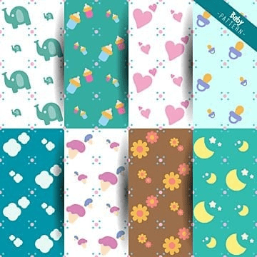 Baby Shower Collection Of Abstract Decorative Patterns