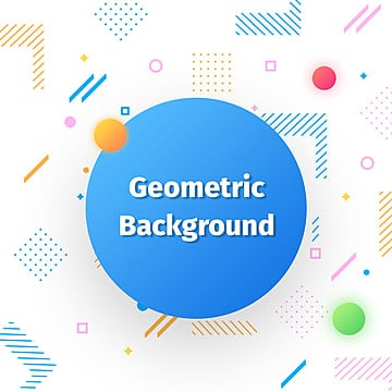 Geometric Shape Background, Geometric, Memphis, Circle PNG and PSD