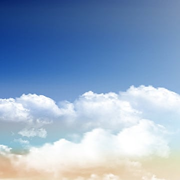 realistic clouds on blue sky background 0609, Landscape, Blue Sky,  PNG and Vector