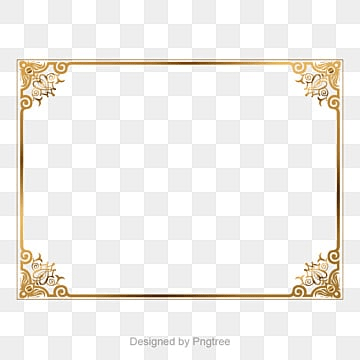 Golden border, Golden Border,border Vector,Boundary, Golden Vector, Picture Frame Vector PNG and Vector