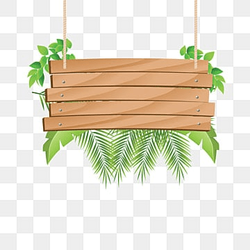 wooden hanging with tropical, Wood, Wood Decoration, Green Vector PNG and Vector