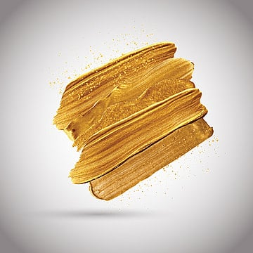 gold paint strokes 2002, Illustration, Texture, Eps10 PNG and Vector