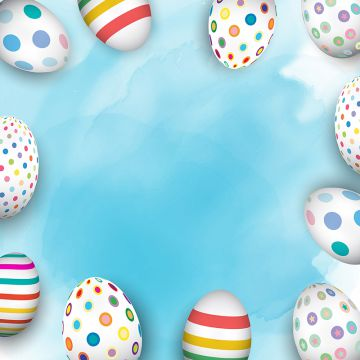 easter eggs on watercolour background 2103, Easter, Easter Background, Easter Vector PNG and Vector