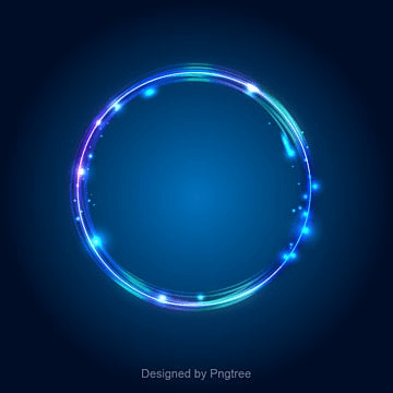 Light Effect Blue Circle Border PNG And Vector