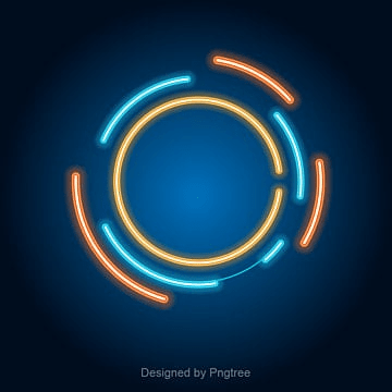 colored circular luminous background, Light Effect Border, Blue, Aperture PNG and Vector