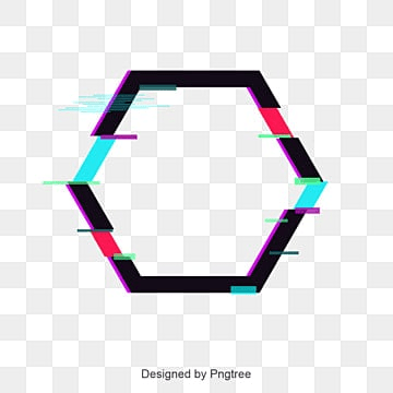 abstract colored polygonal border, Color Border, Geometry, Flowery PNG and Vector