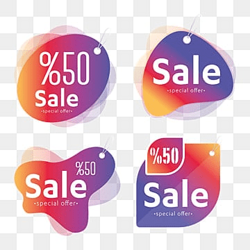 Vector Sales Label Set, Label, Sale, Offer PNG and Vector