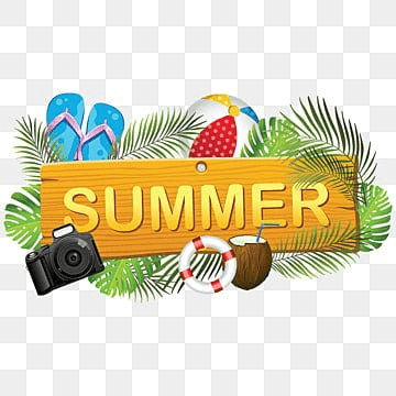 Creative Summer Board with Summer Elements, Summer, Summer Board, Summer Collection PNG and Vector