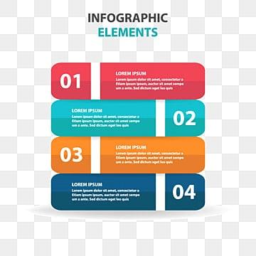 抽象的なカラフルなラベルのビジネス図解要素, 図解, 図解, プレゼンテーションPNGとベクター