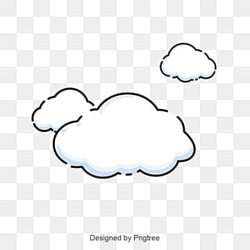 Cartoon simple white cloud vector, Cloud, Bubble, Think PNG and Vector