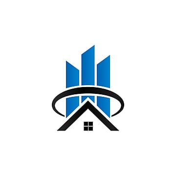 Sky Screr And House Logo Flat Apartments Apartment Building Png Vector