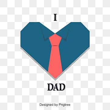 father's day, Fathers Day, Bow Tie, 蓝色心形衬衫 PNG and Vector