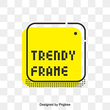 background of fashion creative border, Trendy Frame, Yellow Frame, Square PNG and Vector