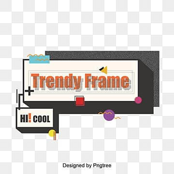 cool frame background design, Trendy Frame, Background Frame, Square PNG and Vector