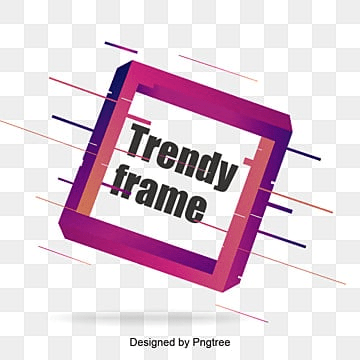 trendy frame design, Trendy Frame, Purple Frame, Square PNG and Vector