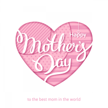 happy mothers day white lettering on a pink background, Mother, Typography, Mom PNG and Vector