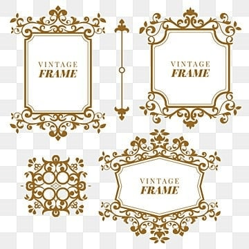 floral elements for design of monograms invitation, Frame, Floral, Gold PNG and Vector