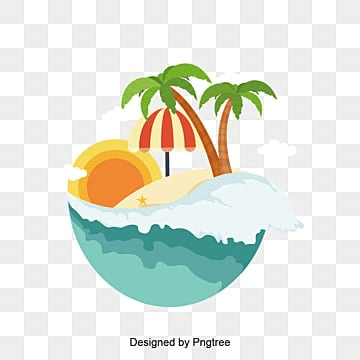 Hainan  scenery in summer, Summer Vector, , Island PNG and Vector