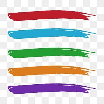 красочные акварельные мазки набор кистей, Мазки, красочный, Аннотация PNG ресурс рисунок и векторное изображение