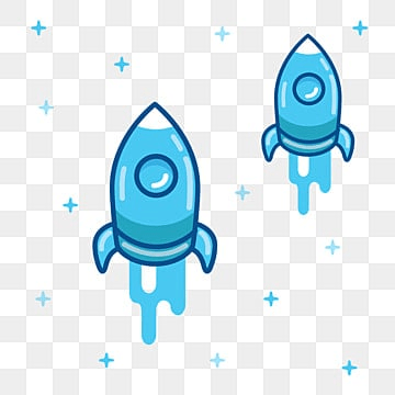 space rocket flying in space with star background, Color, Star, Rocket PNG and Vector