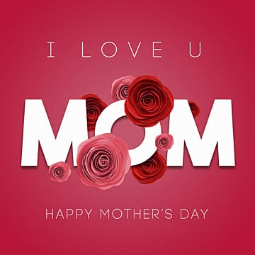 mothers day card, Happy, Happy Mother'day, Mothersday PNG and PSD