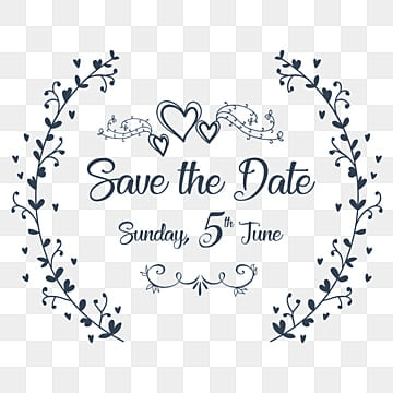 Save The Date Wedding Png Images Vectors And Psd Files Free