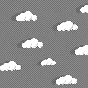 realistic creative cloud vector, Cloud, Realistic, White PNG and Vector
