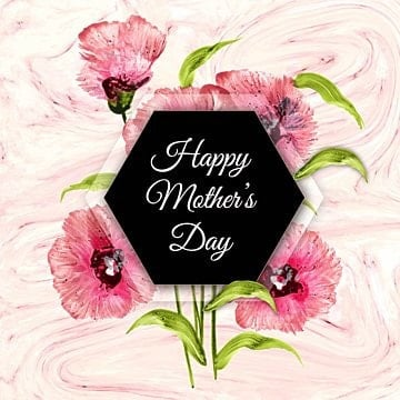 happy mothers day background with floral and marble texture, Wallpaper, Backdrop, Pattern PNG and Vector