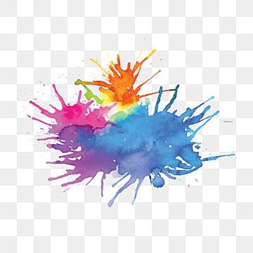 разноцветные акварельные пятна фоновый эффект кисти, мульти - цвет, плескаться, чернила PNG ресурс рисунок и векторное изображение