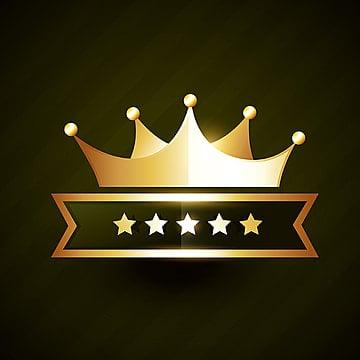 vector golden crown badge design with stars illustration image