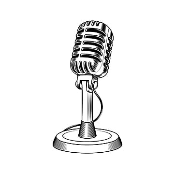Microphone old fashioned. Png vector psd and