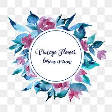 Vintage Flower Badge Vector Flowers Creative PNG And
